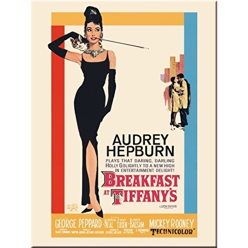 Nostalgic Art Breakfast at Tiffany's Classic Magnet  Renkli